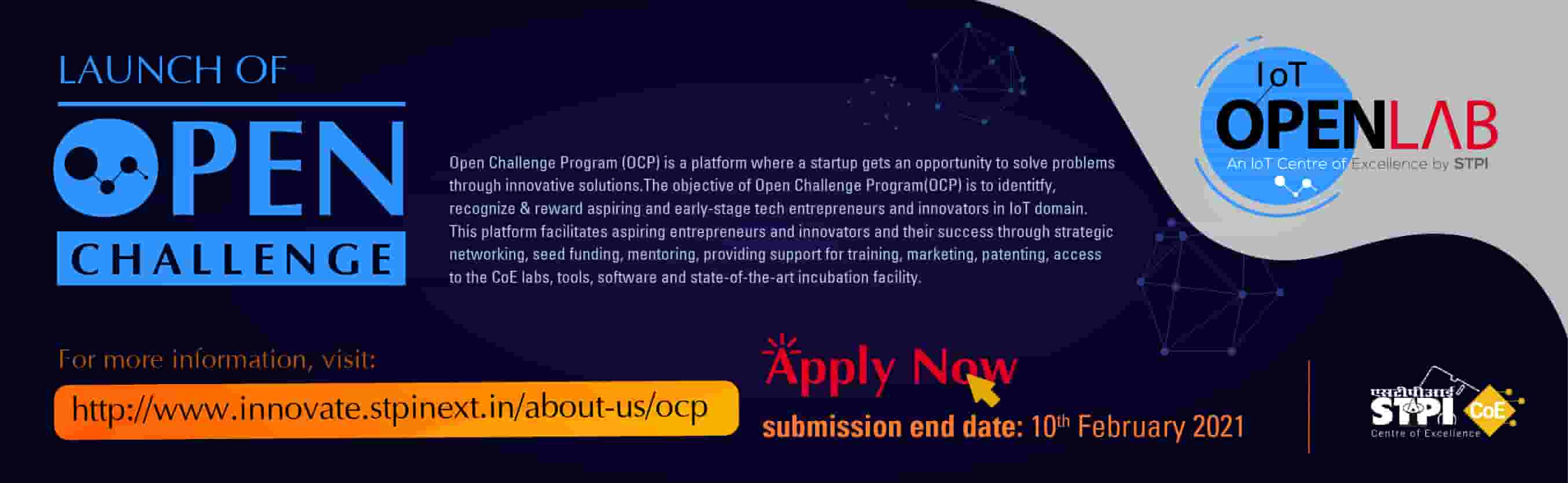 STPI and MeitY IoT Open Challenge Program- Govt. of India