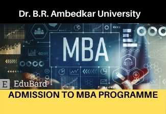 Dr. B.R. Ambedkar University Delhi ADMISSION TO MBA PROGRAMME