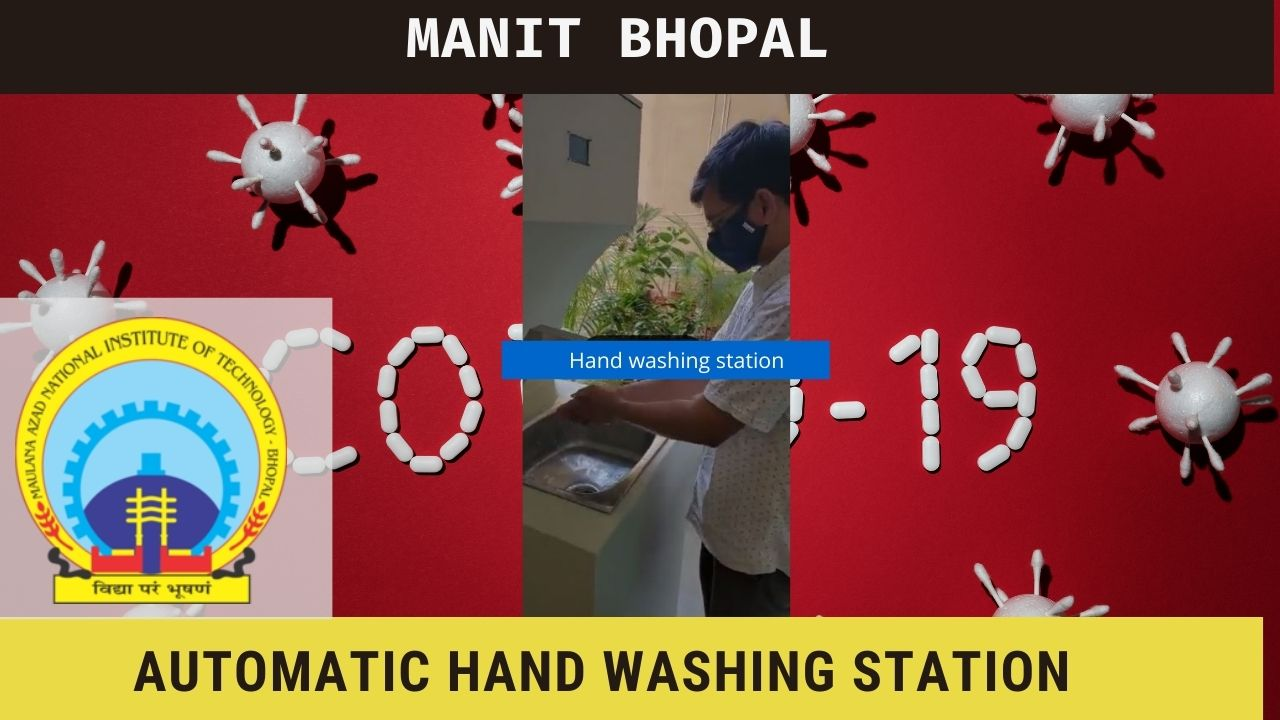 This auto. Machine by MANIT Bhopal will help to wash your hands easily against CORONA