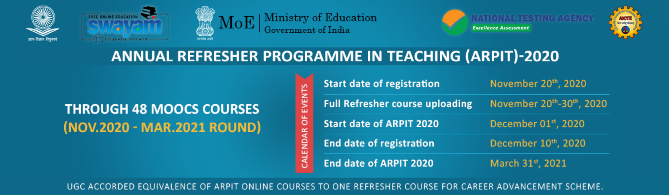 Annual Refresher Programme In Teaching (ARPIT)-2020