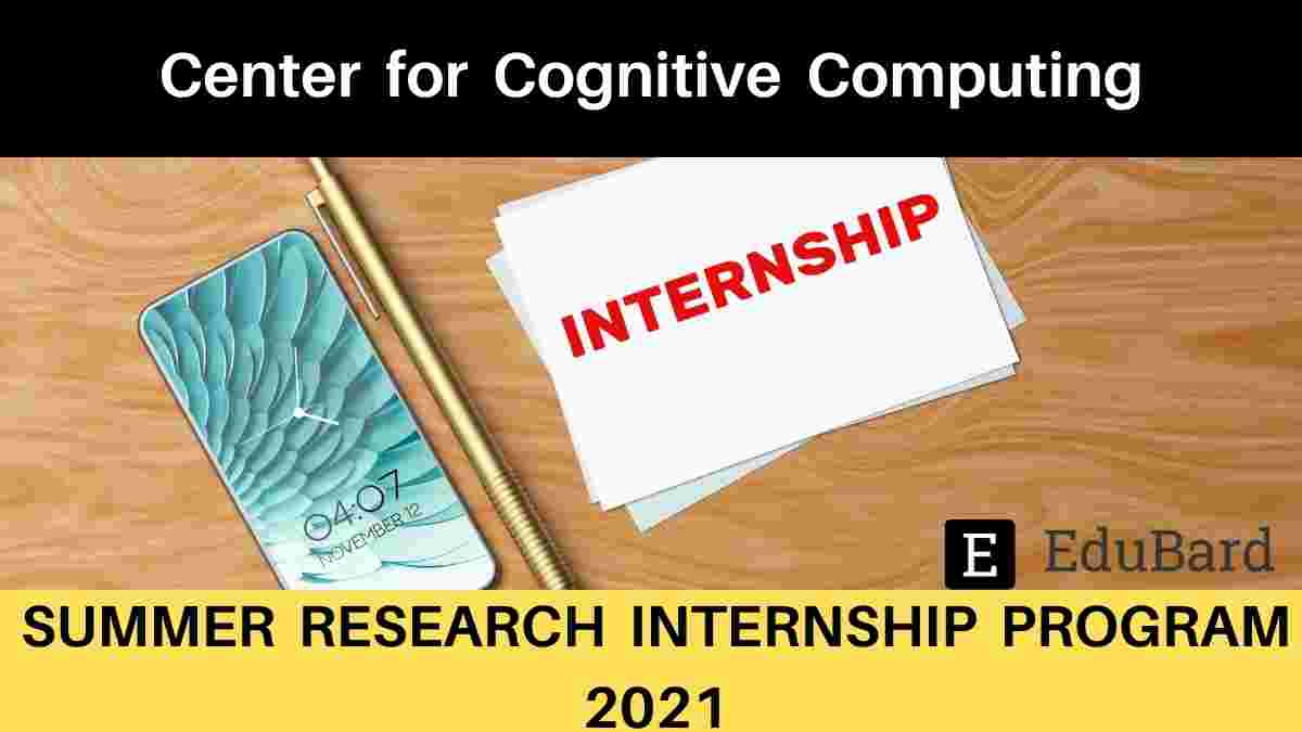 CCC- Summer Research Internship Program 2021, Apply by May 12, 2021