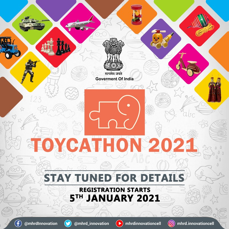 ToyCathon 2021, AICTE, Government of India, Toys Innovation challenge