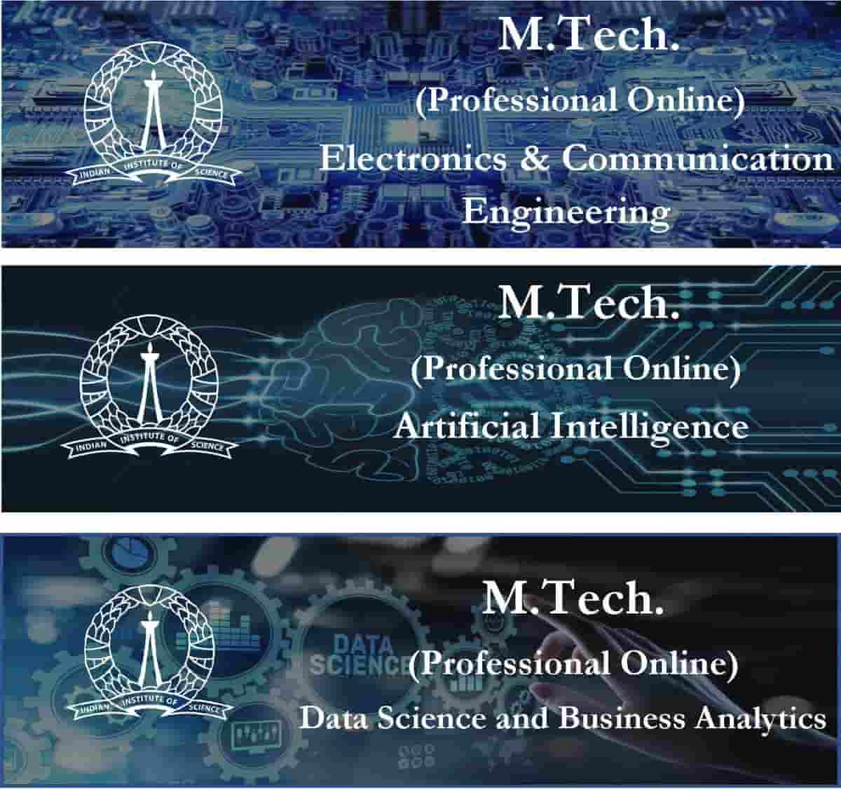 IISc Bangalore launched online MTech in Data science, ECE and AI