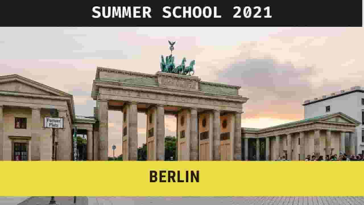 Summer School Berlin 2021, Apply Now
