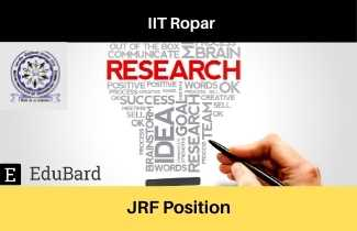 IIT Ropar Immediate Hiring for JRF Position, JOB opportunity at IIT Ropar, Apply Now