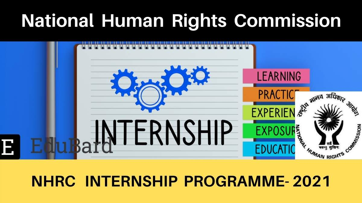 NHRC- Short Term Internship Program | Stipend | Certification | Apply before 4th April 2021