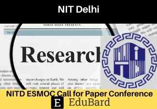 NITD ESMOC Call for Paper | conference