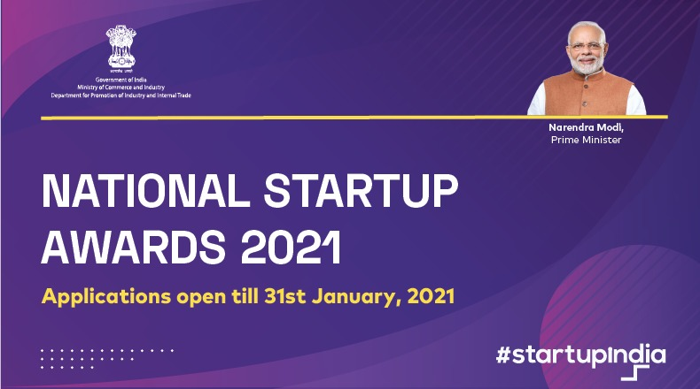 DPIIT has invited applications for National Startup Awards 2021