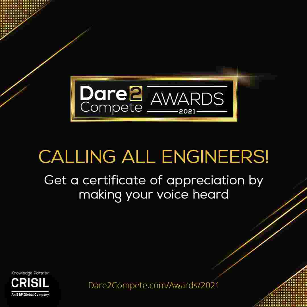Get FREE Certificate | Dare2Compete Awards 2021 Survey and Voting