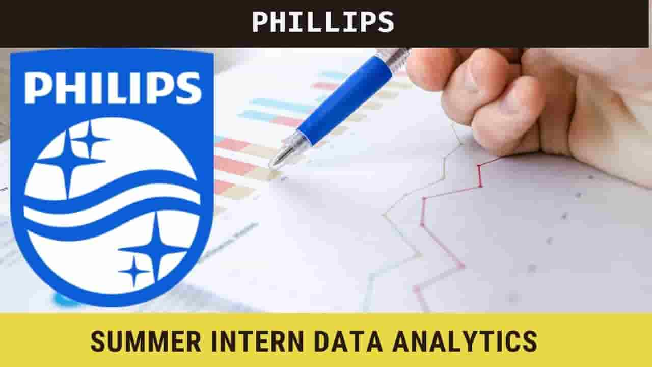 Summer Internship at Philips 2021 in Data Analytics, Apply now