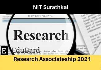 NITK Surathkal Department of Civil Engineering Research Associateship 2021