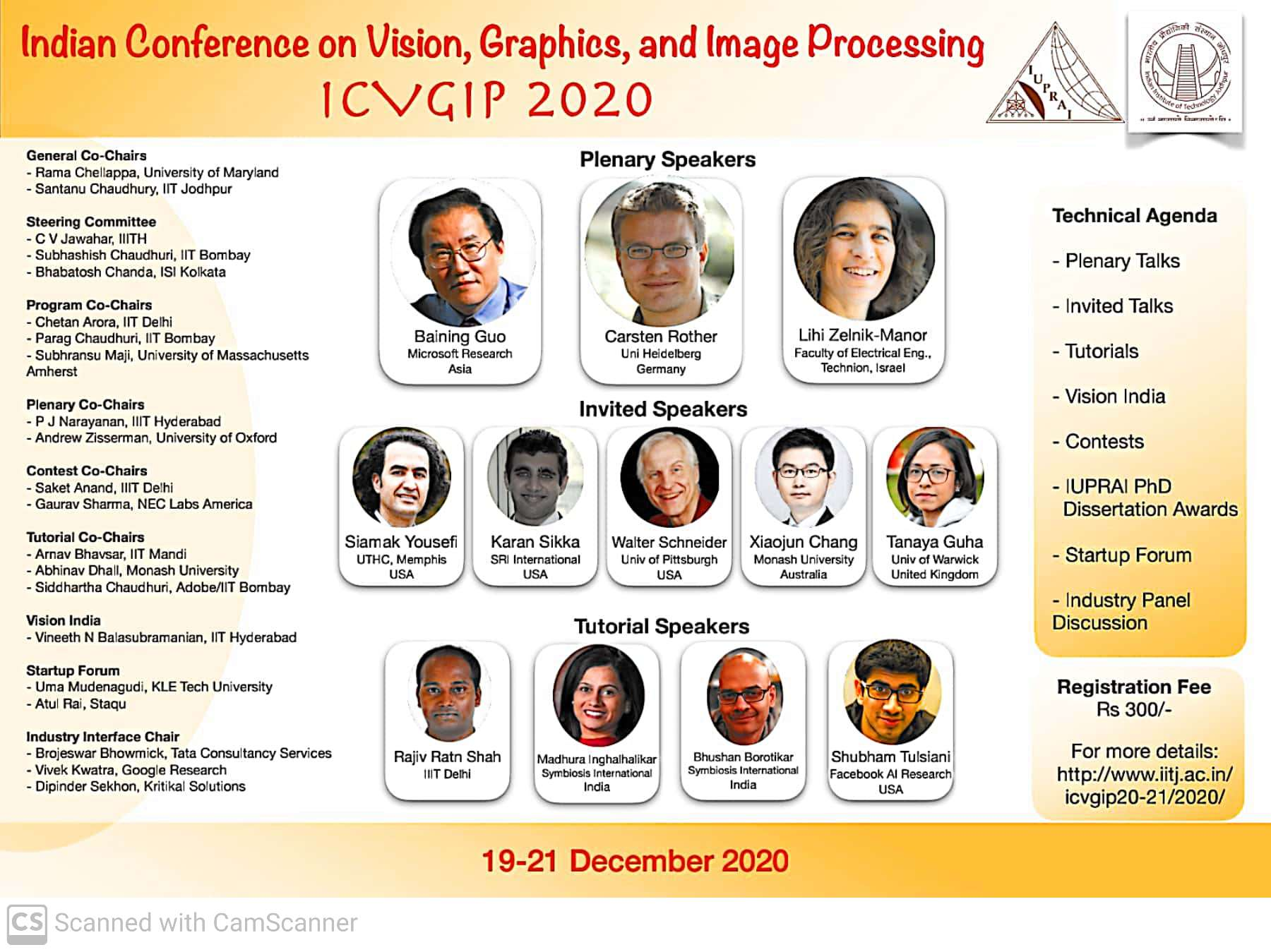 IIT Jodhpur organising the Indian Conference on Computer Vision, Graphics and Image Processing (ICVGIP)