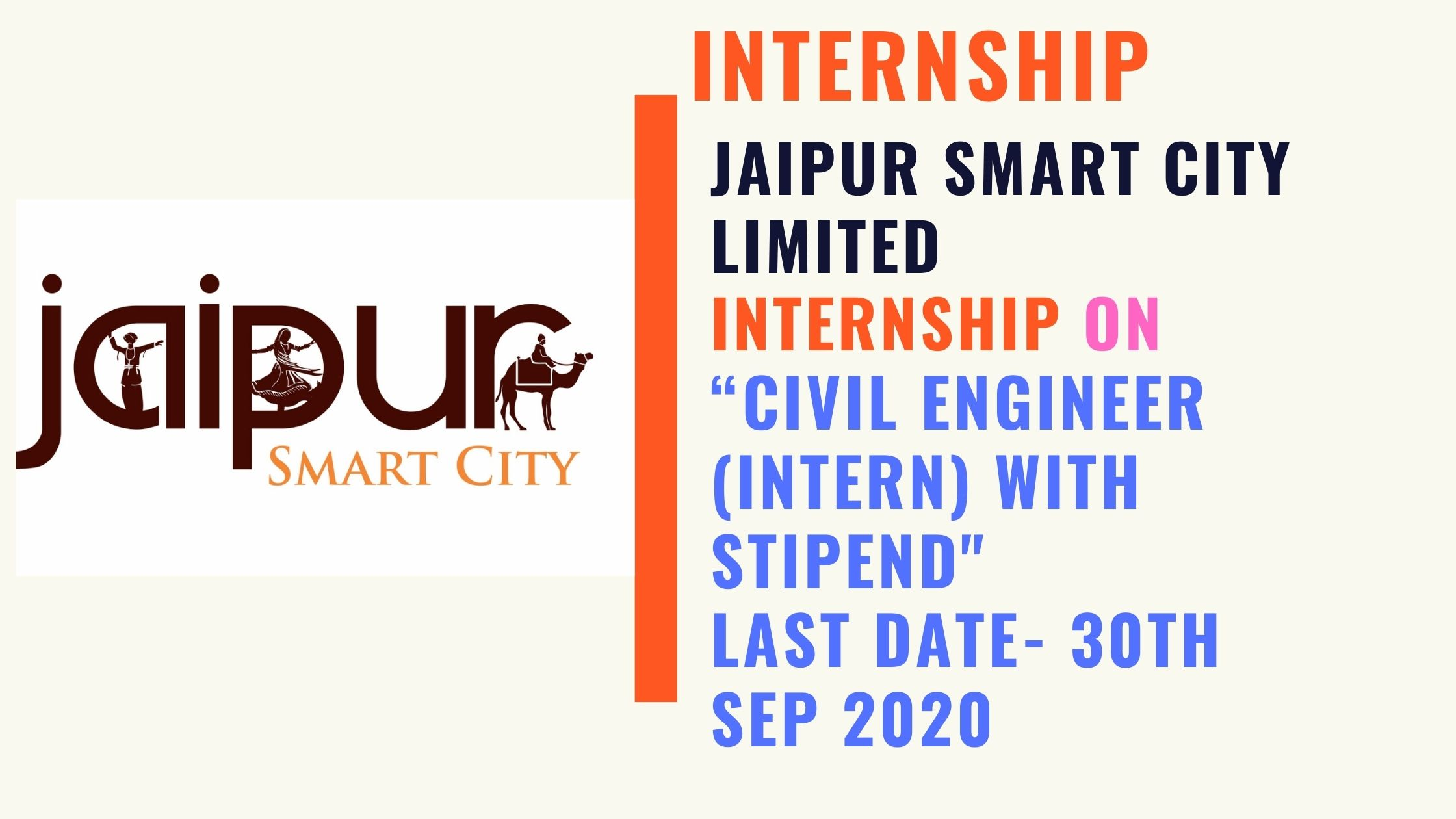 CIVIL ENGINEER (INTERN) WITH STIPEND Jaipur Smart City Limited