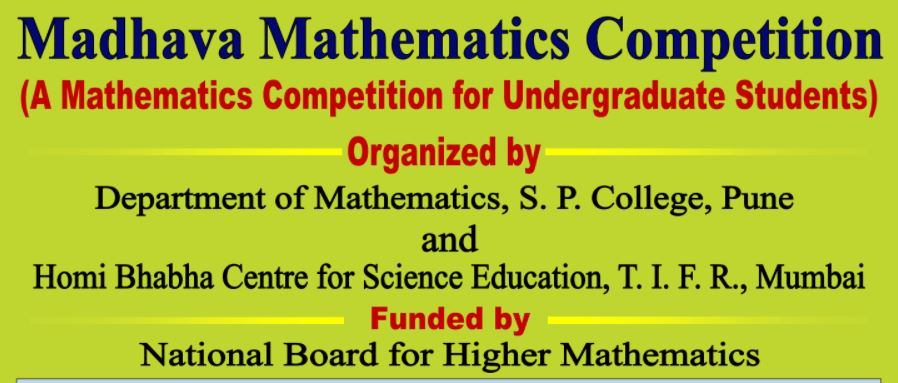 MADHAVA MATHEMATICS COMPETITION by TIFR Mumbai